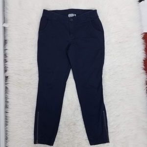 Athleta Zip Ankle Pants Sz 8 Blue C6